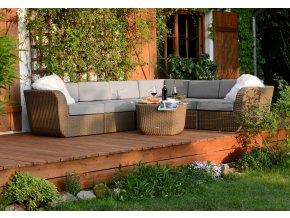 Ratanový zahradní nábytek Palermo Caramel