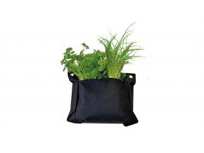 Ratanový zahradní nábytek Textilní květináč malý - Výhodný set SET 2+2