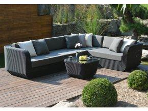 Ratanový zahradní nábytek sedací sestava Cairo nero