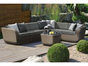 Ratanový zahradní nábytek rohová pohovka