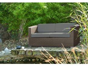 Ratanový zahradní nábytek pohovka pro dva