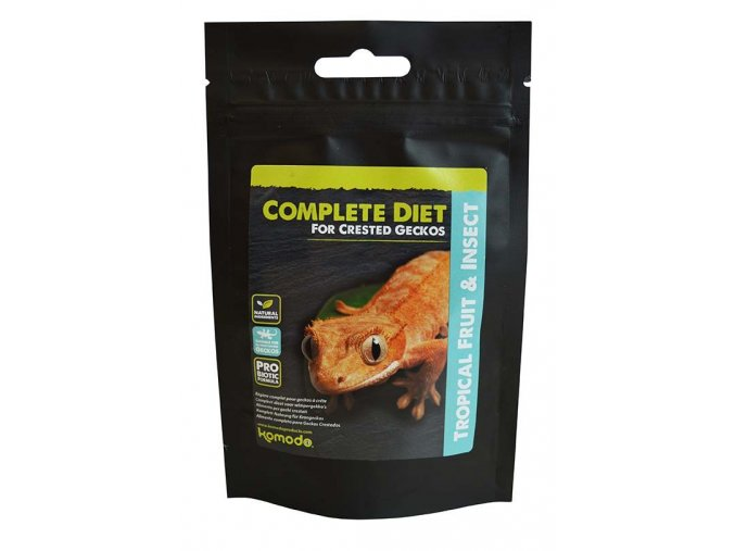 Komodo Complete Diet for Crested Geckos Tropical fruit & Insects 60 g
