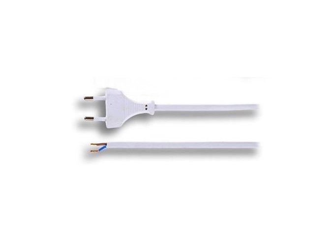 Přívodní kabel 2x0,75mm2, 3 m, bílý