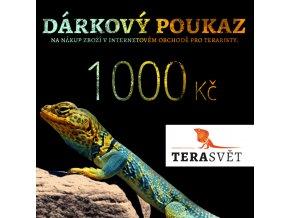 dárkový poukaz TeraSvět 1000 Kč
