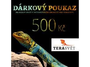 dárkový poukaz 500 Kč TeraSvět.cz