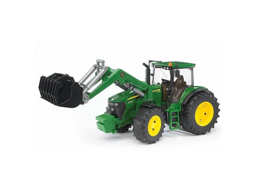BRUDER 03051 Traktor JOHN DEERE 7930+čelní nakladač