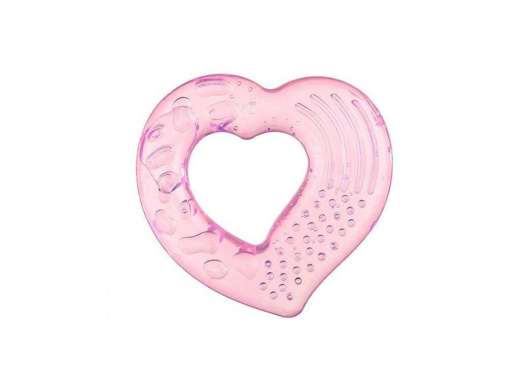 Akuku Chladící kousátko srdíčko růžové
