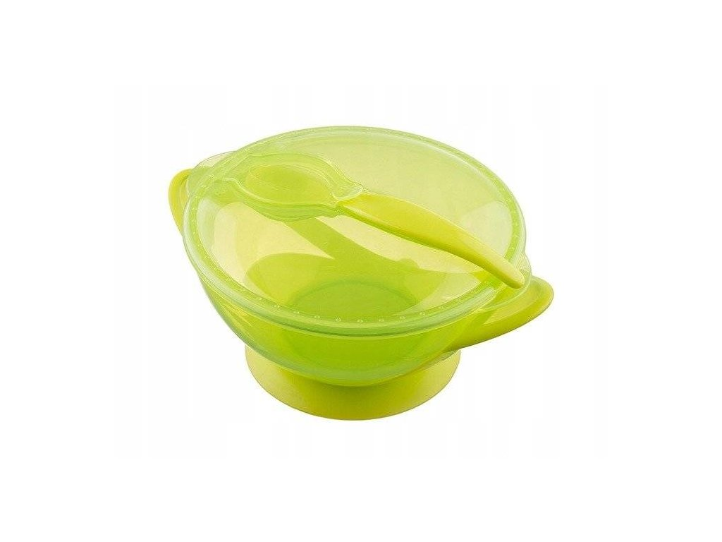 Akuku miska s přísavkou a se lžičkou