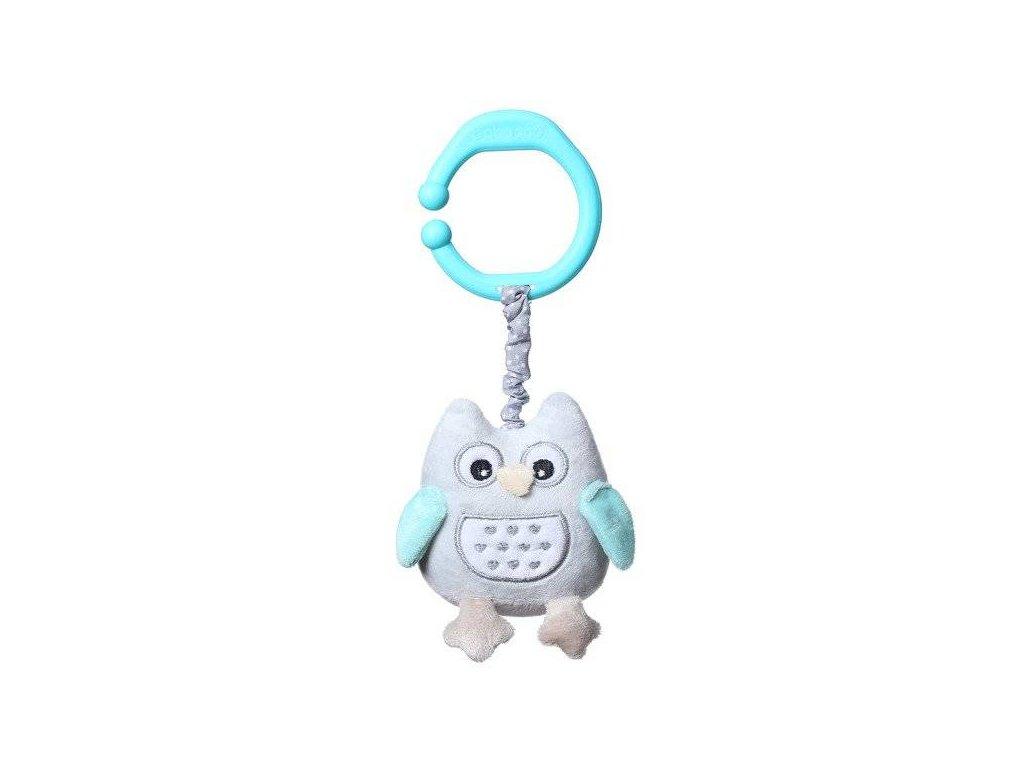 Baby Ono hračka s vibrací sovička modrá