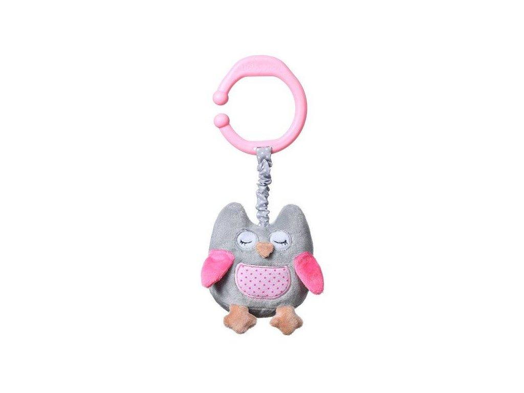 Baby Ono hračka s vibrací sovička růžová