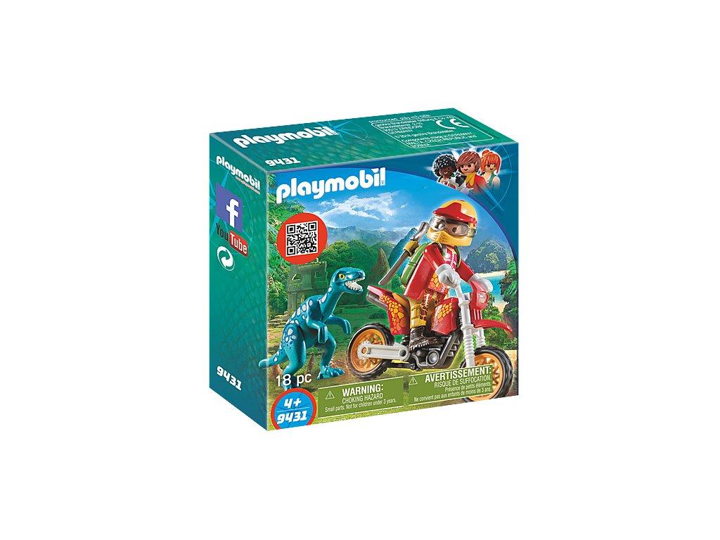 Playmobil 9431 Motorkář s Raptorem