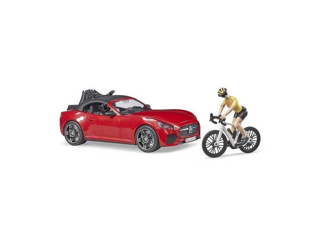 Bruder 3485 Roadster s cyklistkou