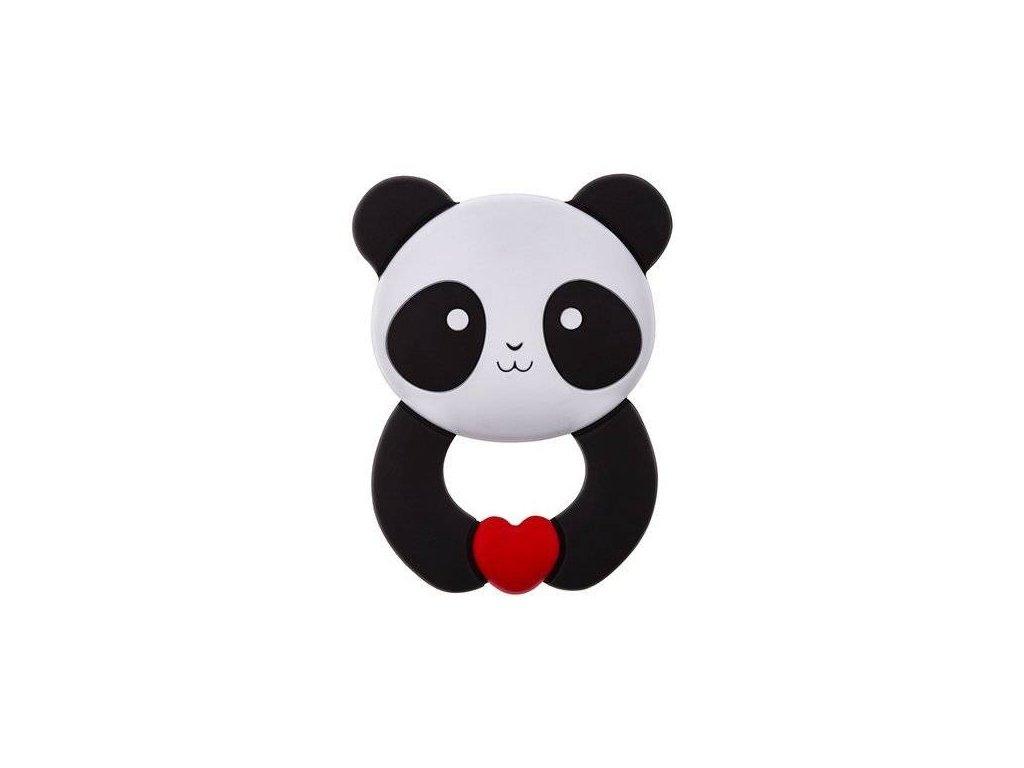 Akuku dětské silikonové kousátko Panda