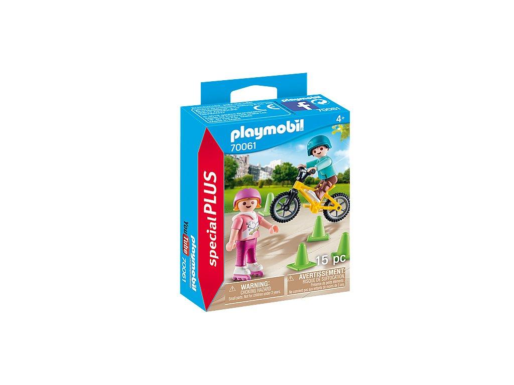 Playmobil 70061 Děti s bruslemi a BMX