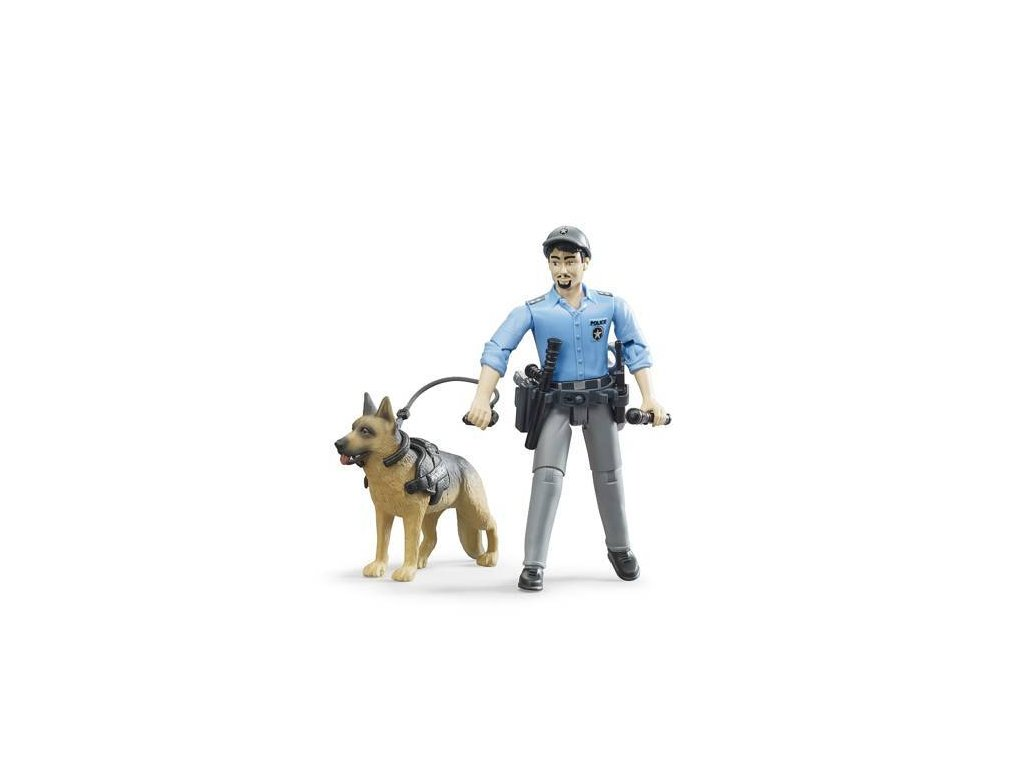 Bruder 62150 BWORLD Policista se psem