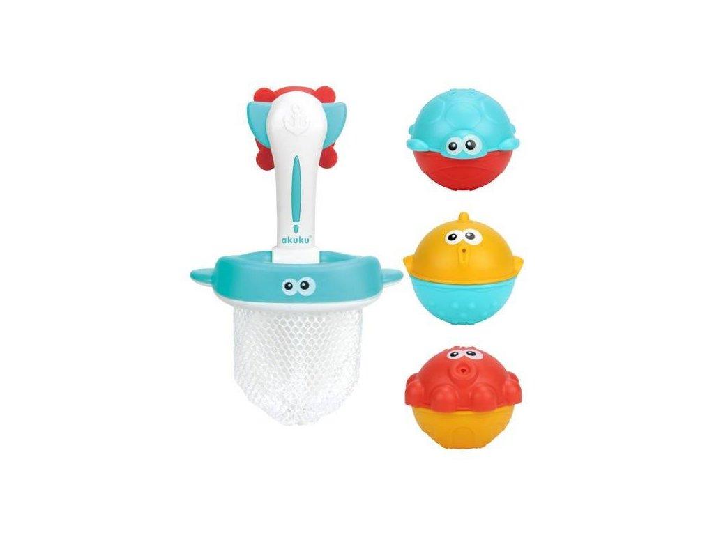Akuku Hračky do vody koš s hračkami