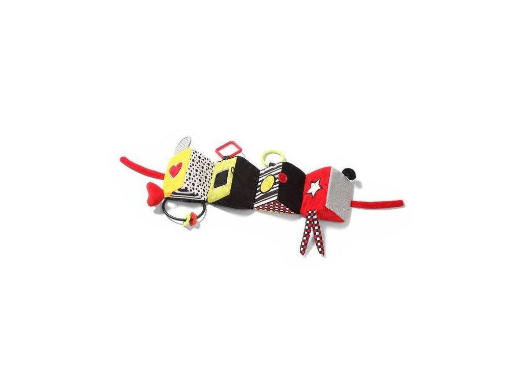 BabyOno plyšová edukační hračka Omnibus C More Collection černá červená