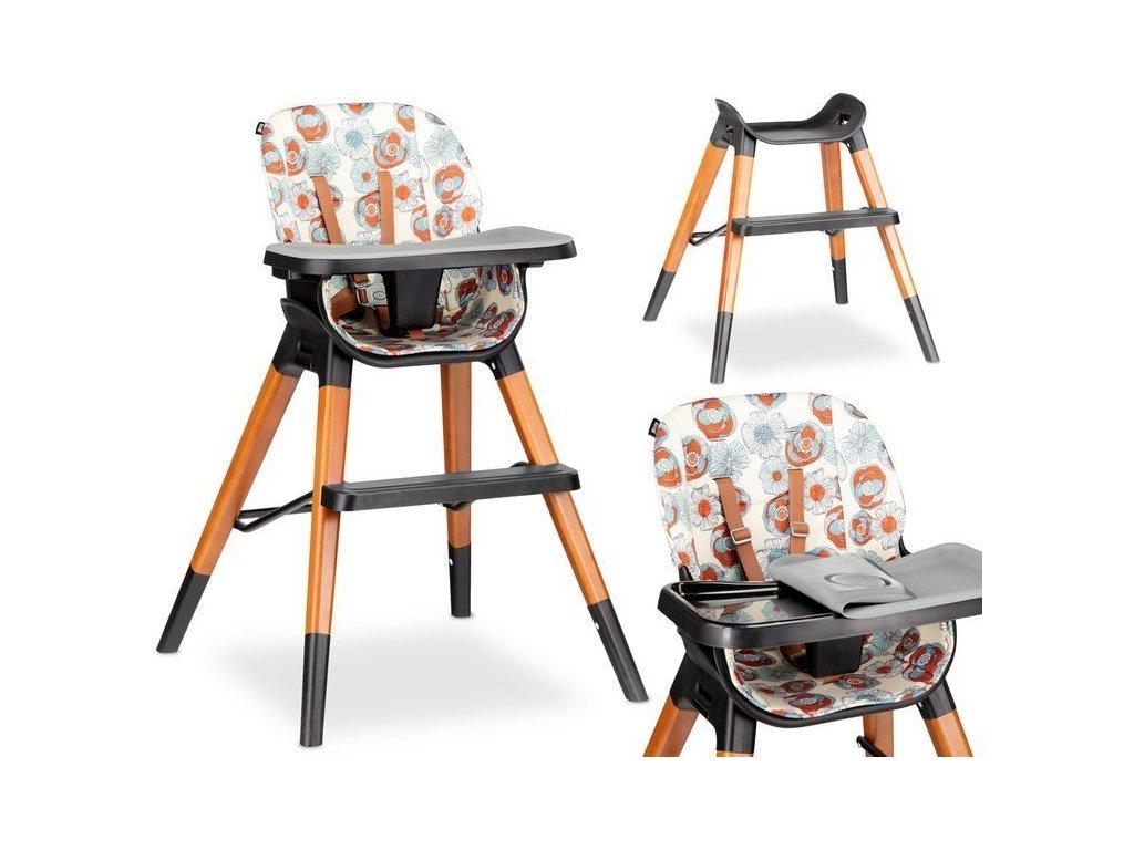 Lionelo Mona Flower Jídelní židlička 4v1