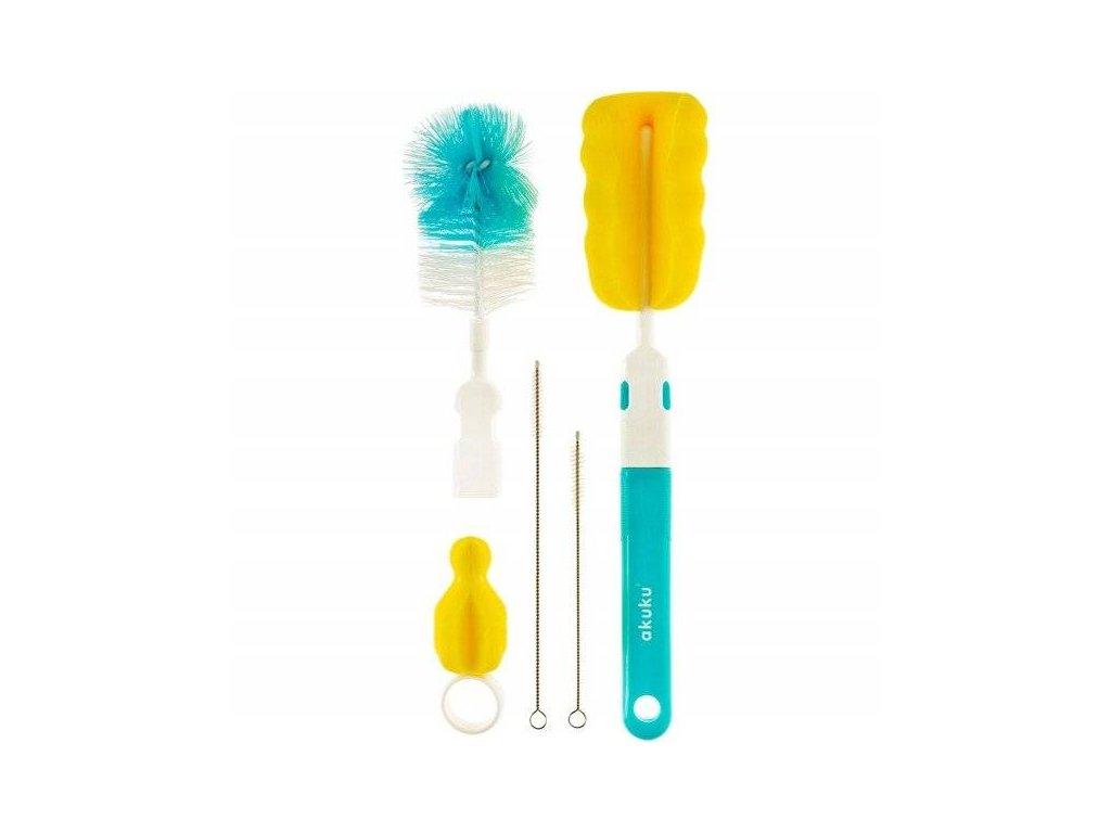 Akuku A0410 Sada kartáčů na čištění láhví a dudlíků modrá