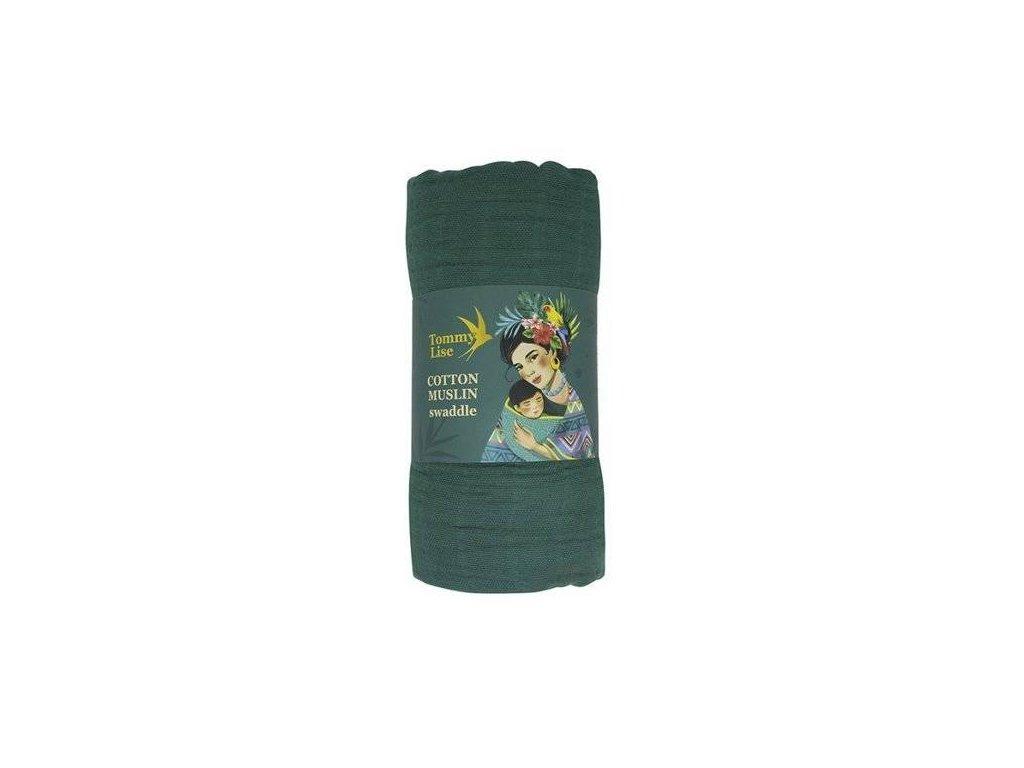 Tommy Lise 701316 Mangrove Green Bavlněná mušelínová plena