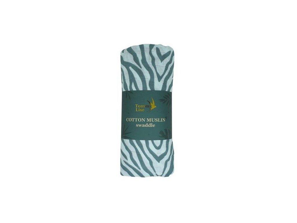Tommy Lise 701321 Blue Tiger Bavlněná mušelínová plena