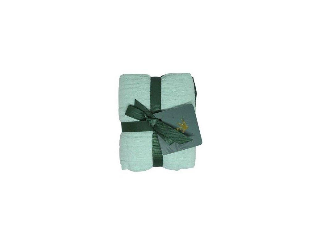 Tommy Lise Bavlněná mušelínová plena Mangrove Green Set 70x70 cm 2 ks