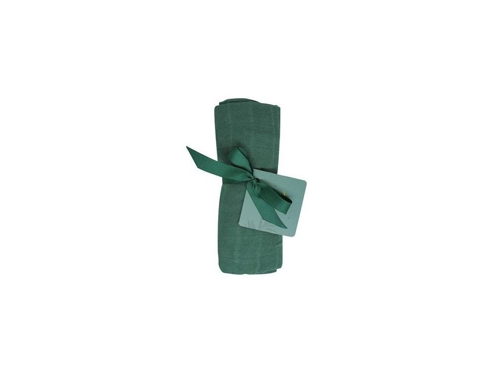 Tommy Lise Bavlněná mušelínová plena 70 X 70cm Mangrove Green