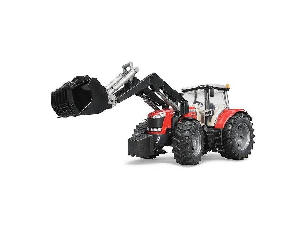 BRUDER 03047 Traktor MASSEY FERGUSON + čelní nakladač