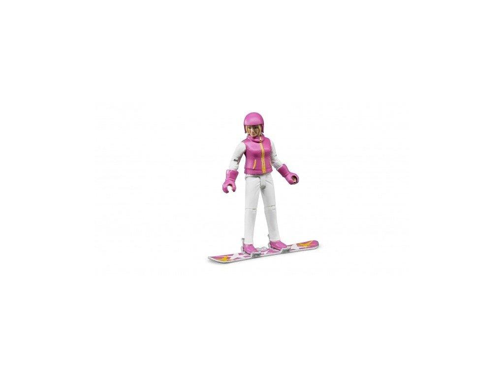 pol pl Bruder 60420 Figurka kobiety na snowboardzie 378 1