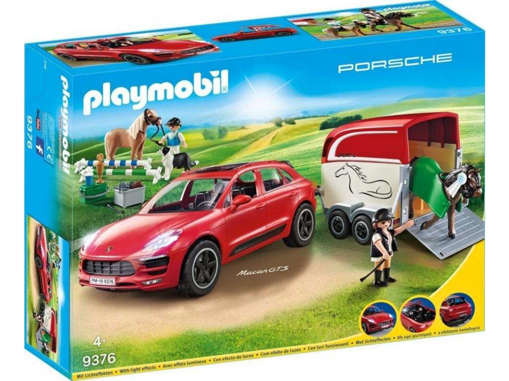 Playmobil 9376 Porsche Macan GTS s přívěsem pro koně