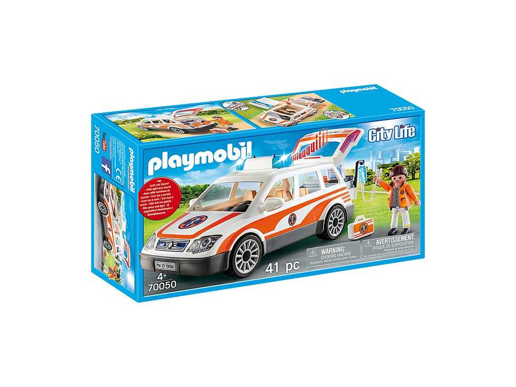pol pl Playmobil 70050 Samochod ratowniczy swieci dzwiek 2854 5