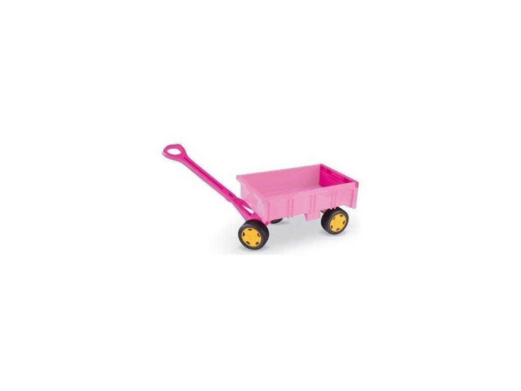 Wader 10958 vozík vlečka dětská plast 95cm růžová