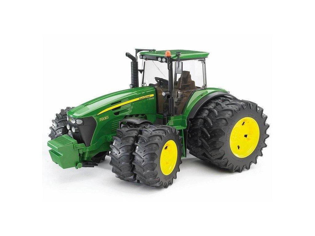Bruder Traktor John Deere 7930 s dvojitými koly