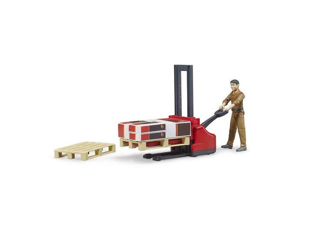 Bruder 62210 UPS logistický set s figurkou