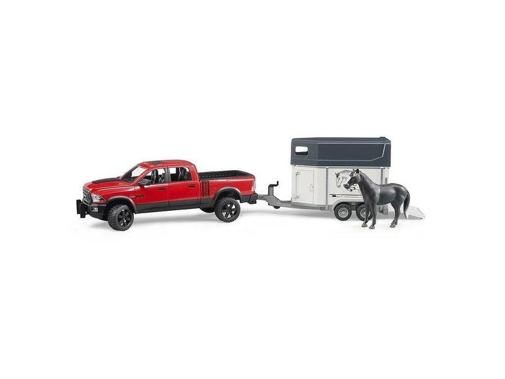 BRUDER 2501 Terénní auto RAM s přepravníkem na koně