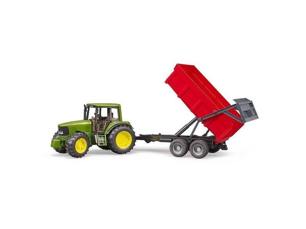 Bruder 2057 Traktor JOHN DEERE 6920 + sklápěcí vůz