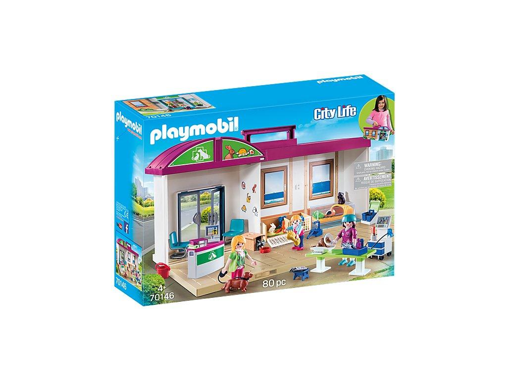 Playmobil 70146 Přenosná veterinární stanice