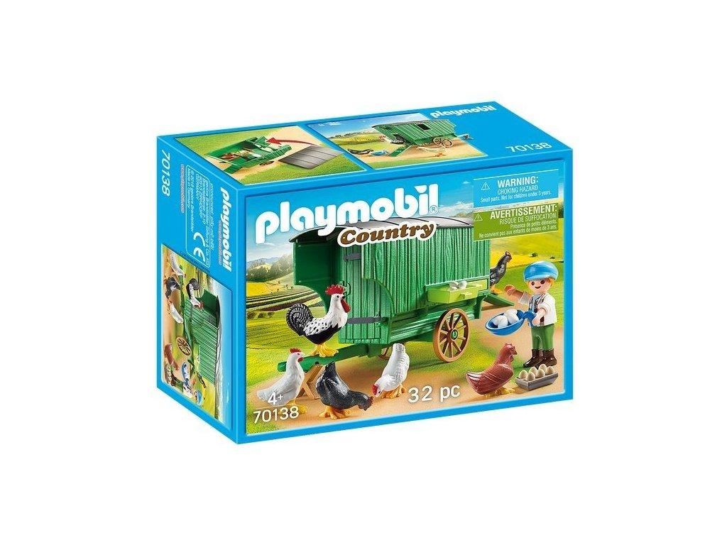 Playmobil 70138 Mobilní kurník pro slepičky
