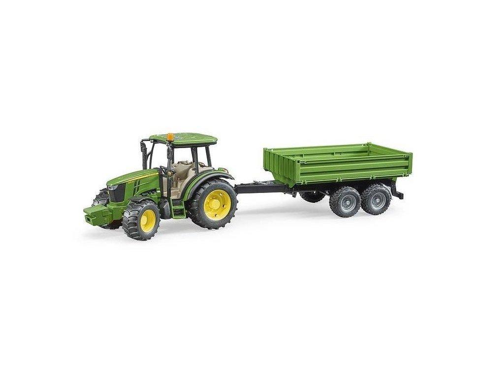 BRUDER 02108 Traktor John Deere 5115 M s valníkem