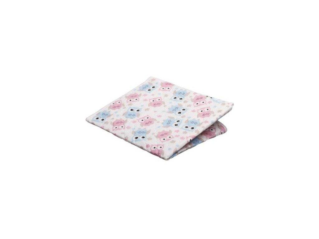 Akuku podložka sovy růžovo-modrá 55x70