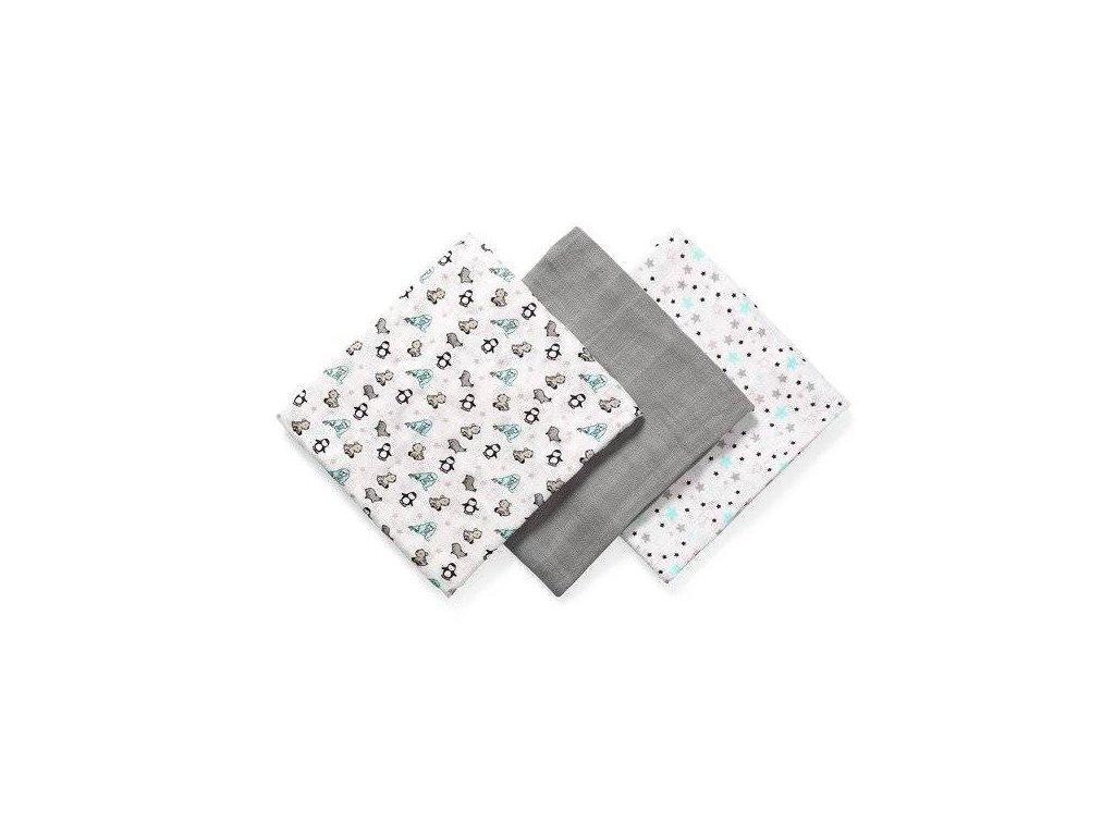 BabyOno Bambusové plenky šedá 3 ks