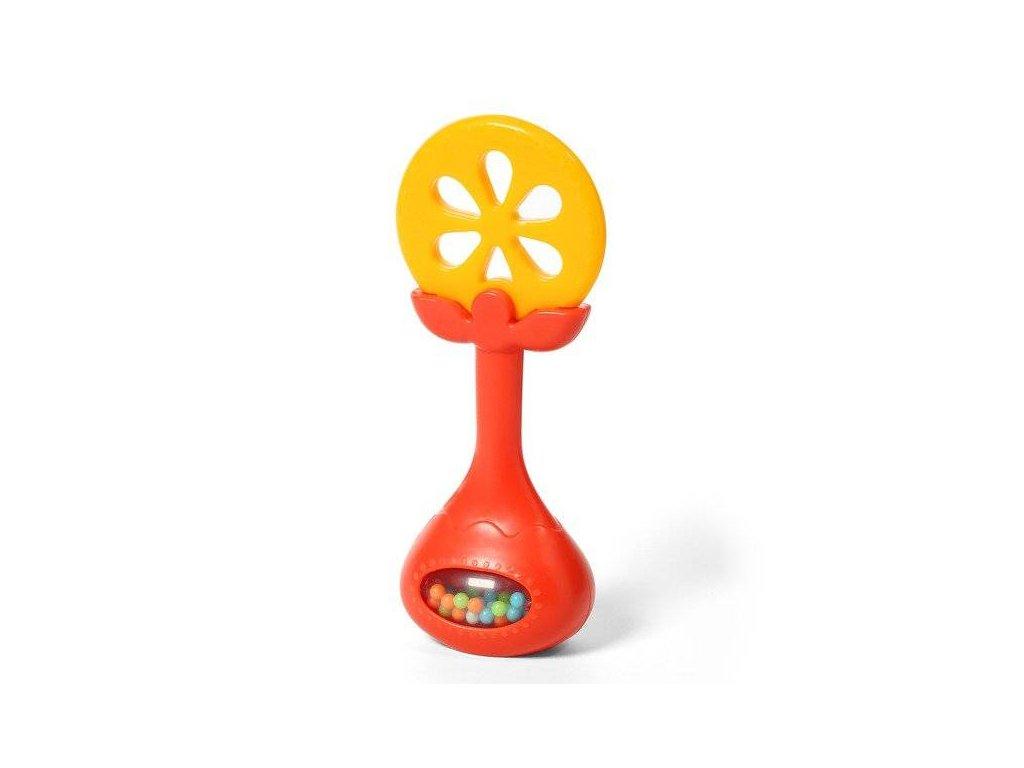 BabyOno edukační kousátko s chrastítkem Pomeranč kat. 499/01