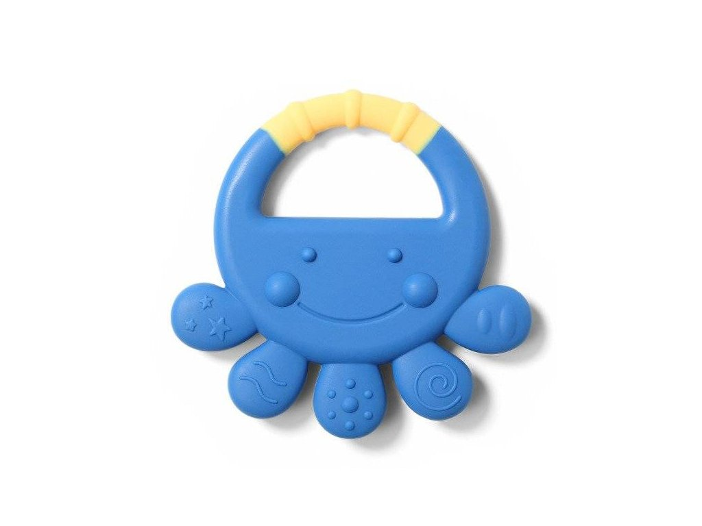 Baby Ono kousátko silikon chobotnice Vicky modrá