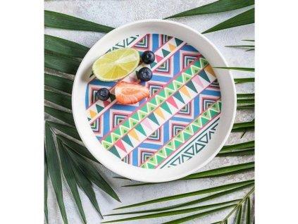 Tommy Lise Bambusový talíř - Ethnic Festive