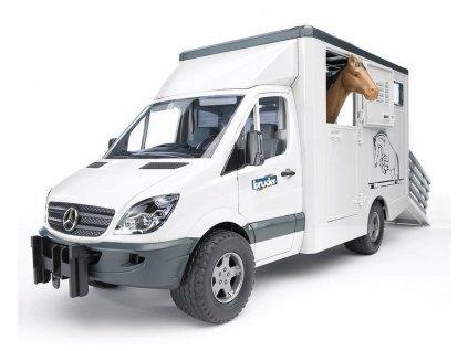 BRUDER 02533 Mercedes Sprinter přepravník s koněm