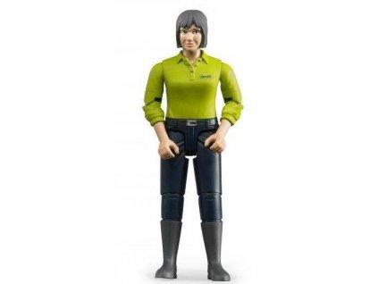 Bruder 60405 Bworld Žena tmavé kalhoty zelená košile