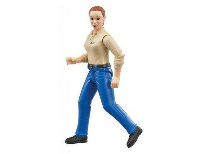 Bworld BRUDER 60408 žena modré kalhoty