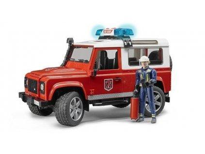 BRUDER 2596 Land Rover hasiči s figurkou hasiče