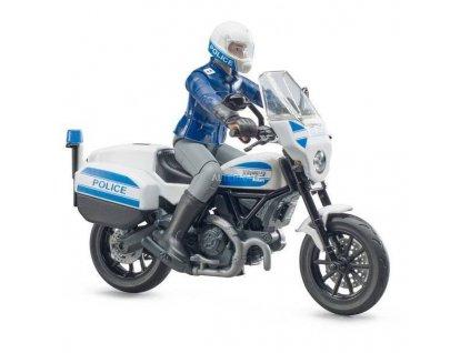 Bruder 62731 Policejní motocykl Scrambler Ducati s policistou