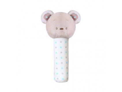 BabyOno pískací plyšová hračka Méďa modré hvězdičky